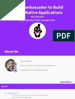 Using Ambassador to Build Cloud-Native Applications - Steve Flanders, Omnition