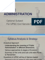 Approach to Public Administration UPSC