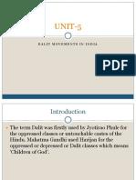 UNIT-5 Dalit movements