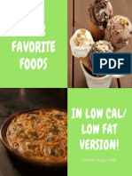 Low Cal Fat Substitute Recipes