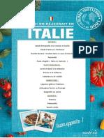 Menu  journée Italienne - 16012020
