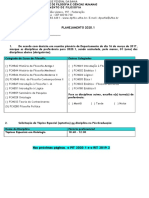 Formulário Planejamento 2020.1 Docente com PIT 2020.1  e RIT 2019.2