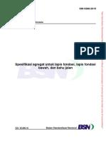 Spesifikasi agregat untuk lapis fondasi, lapis fondasi bawah, dan bahu jalan