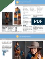 Marl Stripe Knit Super Scarf pdf