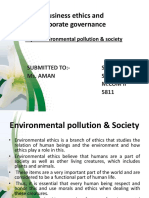Environmental pollution & society