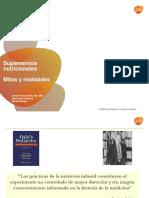 Suplementos nutricionales  Mitos y realidades Dr. Omar Pérez Alvarez