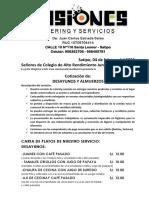 COTIZACION COLEGIO DE ALTO RENDIMIENTO JUNIN