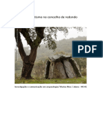 investigação e comunicação em arqueologia Megalitismo concelho de Redondo