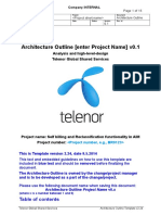Architecture Outline - Self billing and Reclassification in AIM Telenor