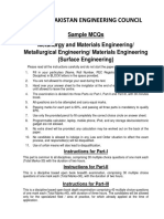 Metallurgy and Materials Engineering (Surface Engineering)