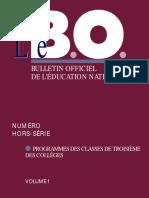 1998-10-B (collège)-Cadre commun+Anglais-3ème