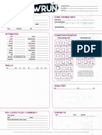 Shadowrun 6E - Record Sheet Form Fillable