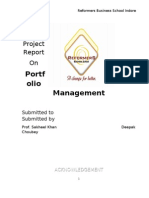 A Project Report on Portfolio-Management by Deepak Choubey