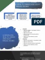 TEMA 6 literatura EBAU CyL-Novela en el franquismo (Cela y Delibes)