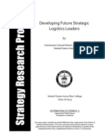 Developing Future Strategic Logistics Leaders