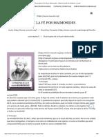 13 principios de la fé por Maimonides - Masuah portal de Judaismo e Israel