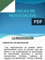 1° PRESNT. TÉCNICAS DE NEGOCIACIÓN