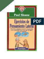 Sloane Paul - Ejercicios De Pensamiento Lateral