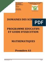 Programme Educt maths 1A1 CND 20-2