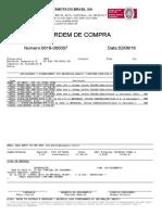 O.C.-0616-00007 - BREVFIX - FUSOS -BANHADOS EM CROMO DURO E PORCAS DE BRONZE - FABRICADOS CONFORME DESENHO  - C.C.20.800 - URGENTE