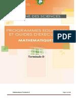 Programme Eductif maths TD CND 2020