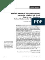 Prediktor kegagalan intervensi koroner perkutan pada oklusi total di pusat jantung nasional, indonesia