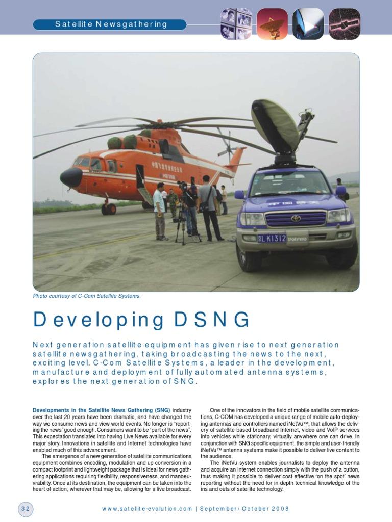 DSNG | Telecommunication | News