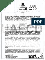 Resolución 2335-2019 Establece Requisitos y Tramites-Servicios Castro Bogotá