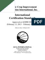 OCIA - International Certification Standards