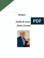AARON CICOUREL (Studiu de Autor)