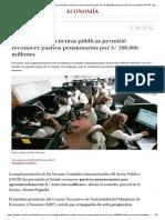 MEF _ Normas contables _ NICSP _ Economía _ Gestión