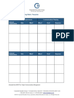 Communications Planning Matrix Template