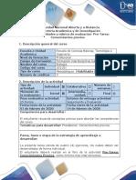 Guía de actividades y rúbrica de evaluación-Pre tarea - Conocimientos previos
