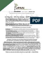 UPAN Newsletter Vol. 7 No. 1 January 2020