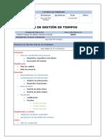 PLAN DE GESTION DE TIEMPOS