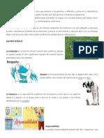 20 Valores Morales Ilustrados,