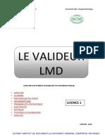Le validateur LMD Licence 1 édition 2015 pour les étudiants