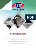 PRESENTACION DE TRANSPORTES LUBAPEAN