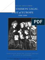 [Studies in Medieval and Early Modern Canon Law 4] Manlio Bellomo - The Common Legal Past of Europe _ 1000-1800 (1995, The Catholic University of America Press).pdf
