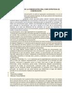 LA IMPORTANCIA DE LA COMUNICACIÓN ORAL COMO ESTRATEGIA DE COMUNICACIÓN.docx