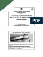 CONFORMACIÓN DEL PUNTO DE CONTACTO_ TÉCNICAS Y MATERIALES. 4 FEBRERO 2015