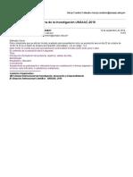Participación en VIII Semana de La Investigación UNSAAC-2019