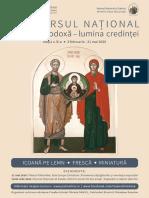 Concursul National Icoana ortodoxa - lumina credintei 2020 - anunt eparhii.pdf