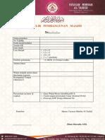 Formulir Pembangunan Masjid dan Mushola