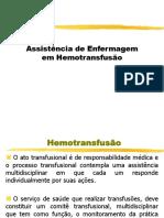 Aula Assistencia de enfermagem em hemotransfusao