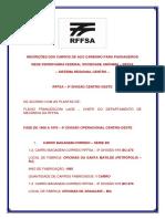 Inscrições Dos Carros de Aço Carbono Para Passageiros Rffsa - 5ª Divisão Centro Oeste
