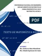 LIBRO DE TEXTO DE MATEMÁTICA BÁSICA CURSO PROPEDÉUTICO-2018