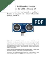 Arduino – Utilizando o Sensor Ultrasonico HC
