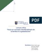 Hacia un concepto interdisciplinario de la familia en la globalización