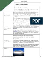 Specific Factors Model-shortly
